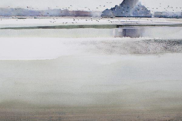 Mont Saint Michel bij laagwater
