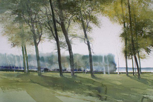 Tussen Cadzand en Breskens in Nederland Entre Cadzand et Breskens - Hollande Fabriano 635g - Ft 76x56cm