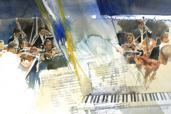 Orkestratie. Orchestration. Arches 350g -Ft.76x56cm