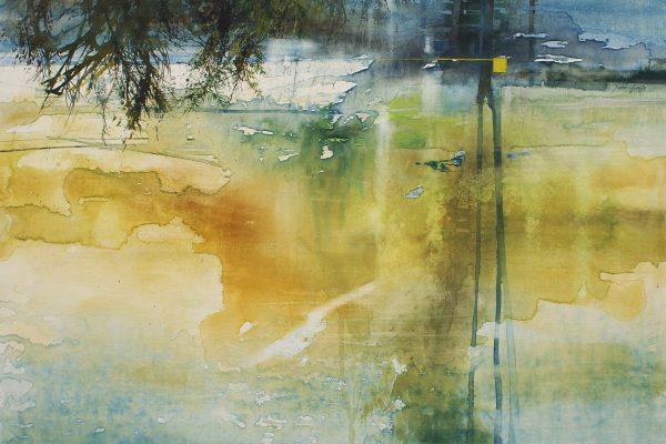 Waterkant. Au bord de l'eau. Aqualinne - Ft.100x100cm