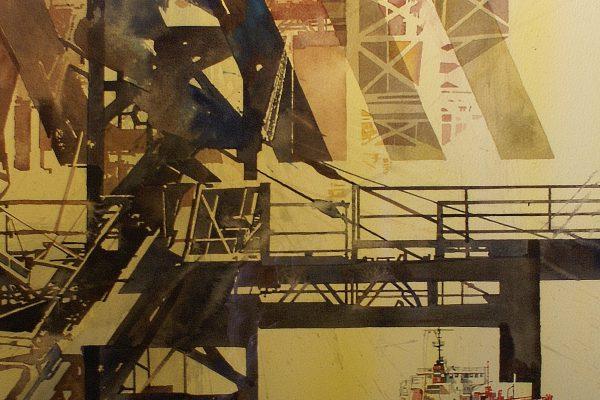 Staalconstructie. Jeux d'acier. Cardboard 1200g  -  Ft.76x56cm