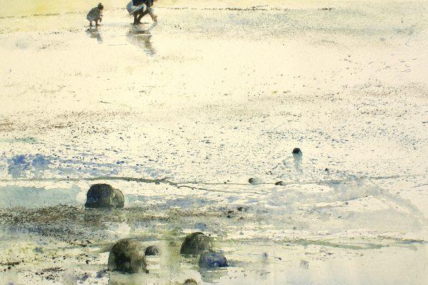 De schelp rapsters. Les ramasseuse de coquillage. Fabriano 635g - Ft.76x56cm
