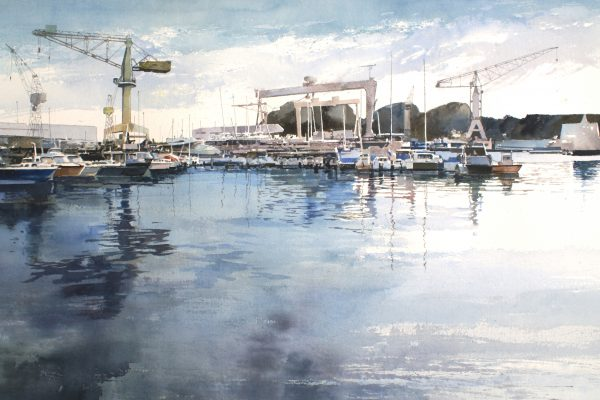Le port de la Ciotat. Arches 635g - Ft.120x85cm