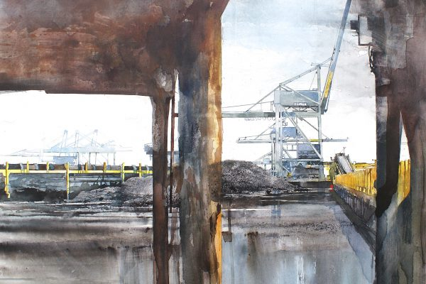 Antwerp Coal Terminal. Aqualinne - Ft.100x100cm