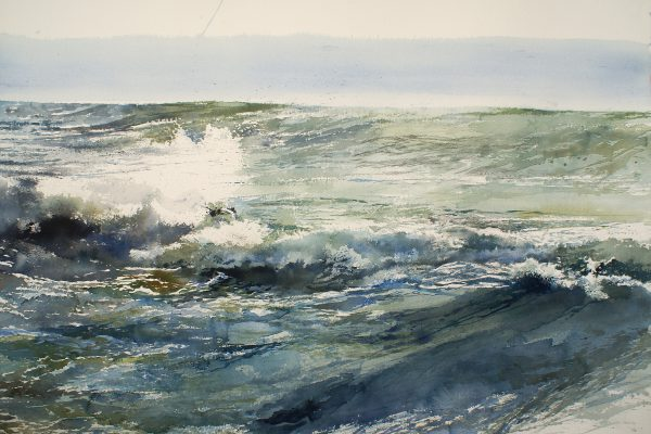 Woelige Noordzee... Mer du Nord houleuse... Arches 635g - Ft. 120x65cm