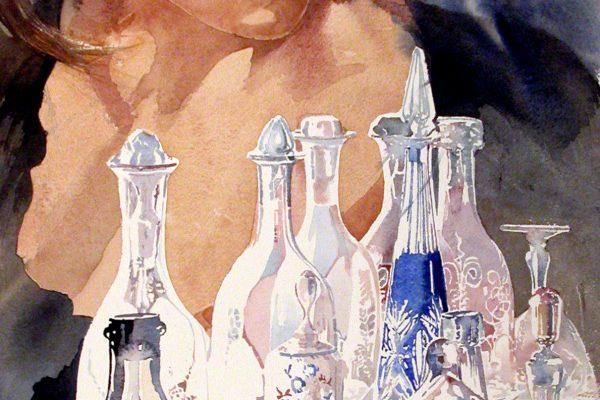 Van glas. En verre. Arches 736g -   Ft.76x56cm