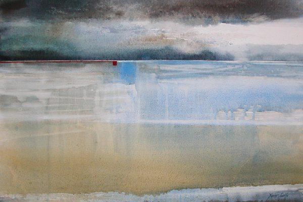 Tussen hemel en aarde... Entre ciel et terre.... Aqualinne - Ft. 100x100cm