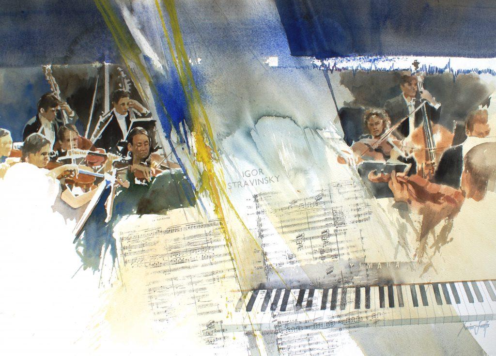 Orkestratie. Orchestration. Arches 350g -Ft.76x56cm