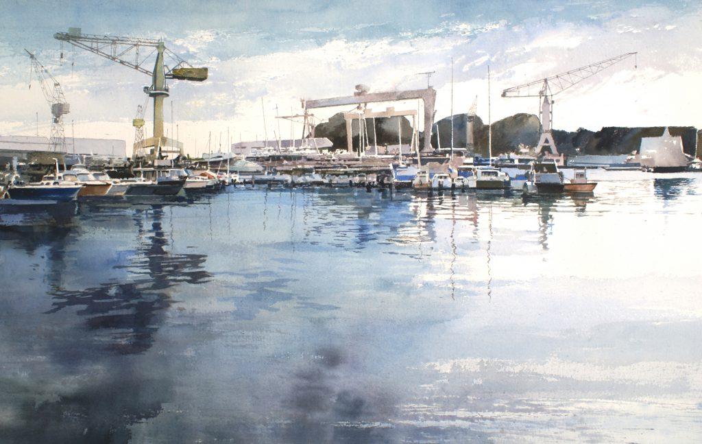 Le port de la Ciotat. Arches 635g - Ft.120x85cm