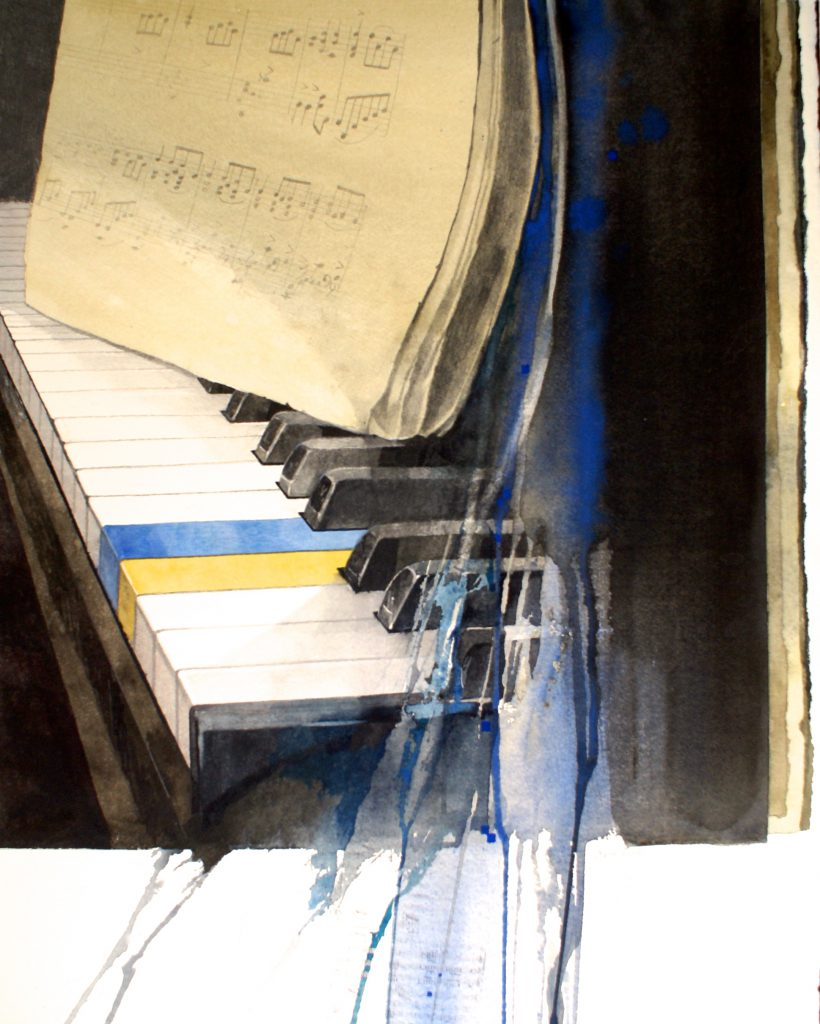 De partituur. La partition. Fabriano 635g - Ft.65x56cm