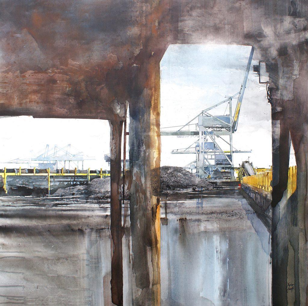 Antwerp Coal Terminal. Aqualinne - Ft.100x100cm