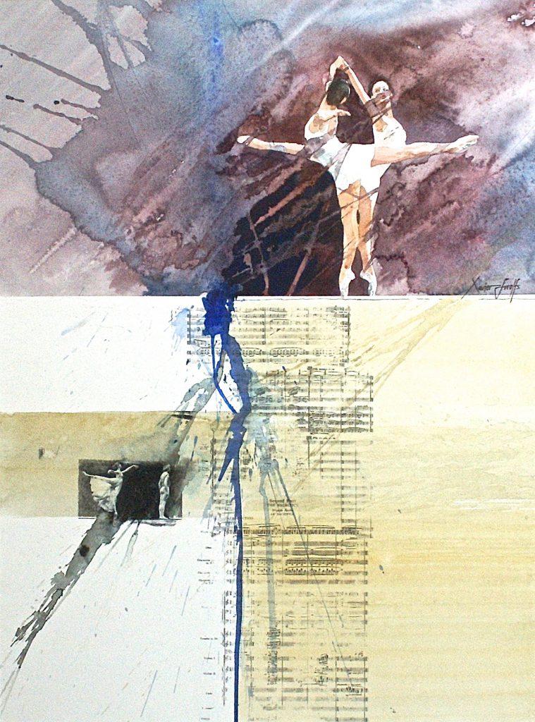 Ballet. Cardboard 1200g - Ft.76x56cm
