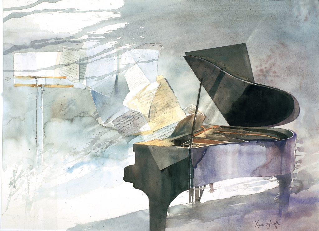 Piano partituren. Partitions pour piano. Arches 736g - Ft.76x56cm